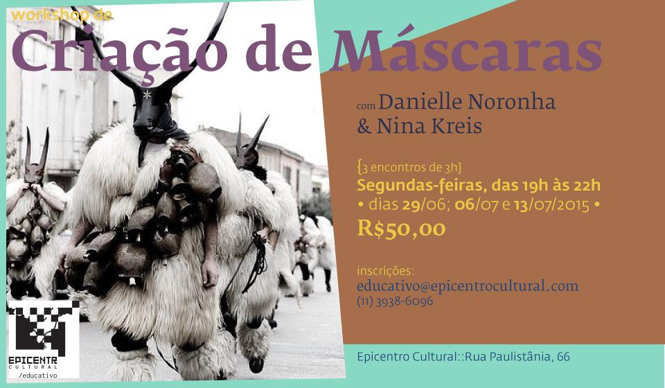 Workshop de criação de máscaras no Epicentro Cultural